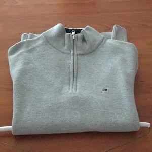 Tommy Hilfiger 1/4 Zip Long Sleeve Sweater
